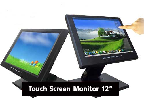 Touch Screen LED Monitor 12 USB w/POS Stand model 1201TV3 ( NEW