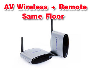 Wireless AV with Remote Extender PAT-220 for same floor use (4 CH)