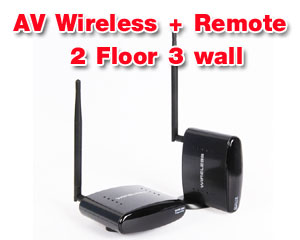 Wireless AV with Remote Extender PAT-260 for >2 floor & 3 wall (6 CH)
